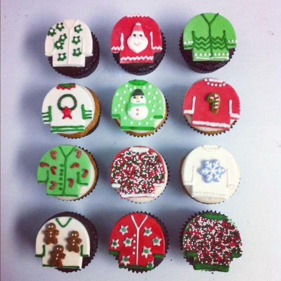 ugly sweater cupcakes