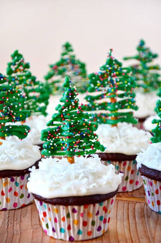 chocolate tree cupcakes for the party