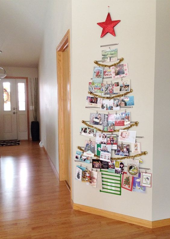 washi tape Christmas card tree