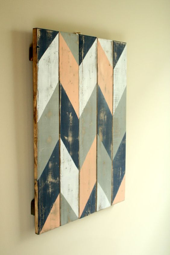 chevron flip print hanging wall art is a stunning addition to any home