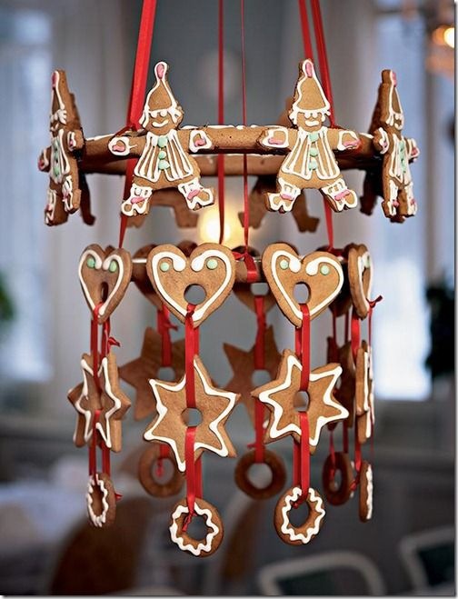 traditional Christmas gingerbread mobile