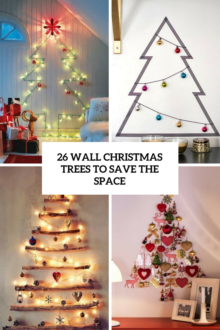 wall christmas trees to save the space cover