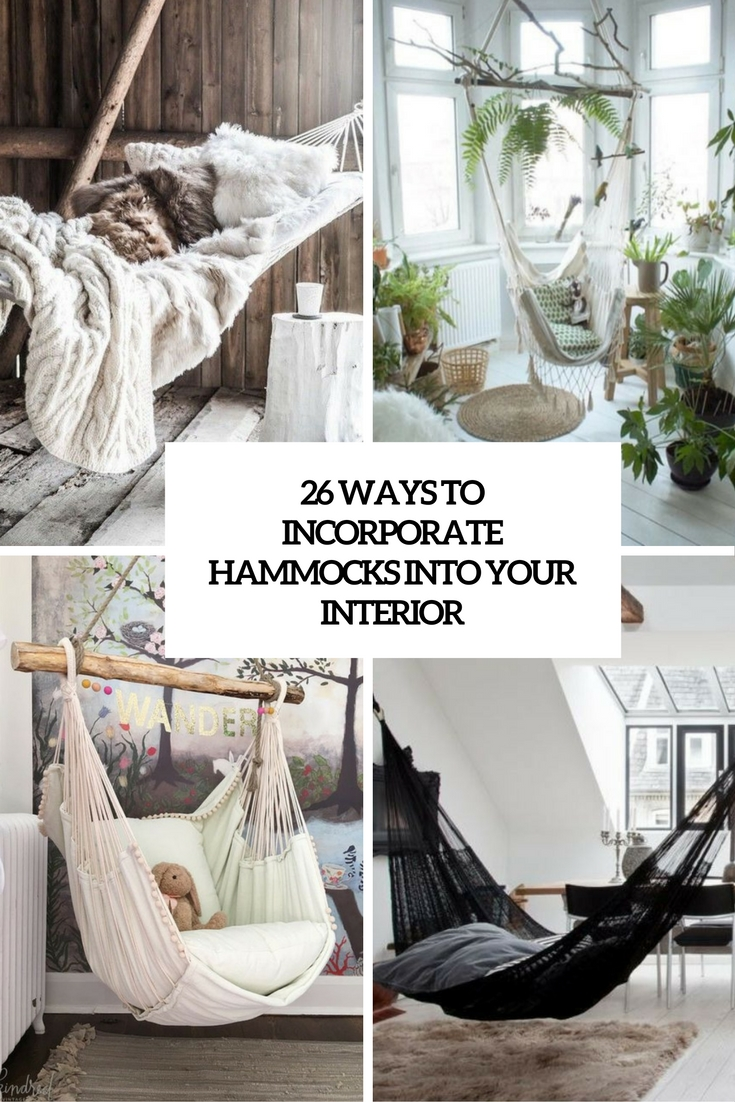 26 ways to incorporate hammocks into your interior for Diy bedroom hammock