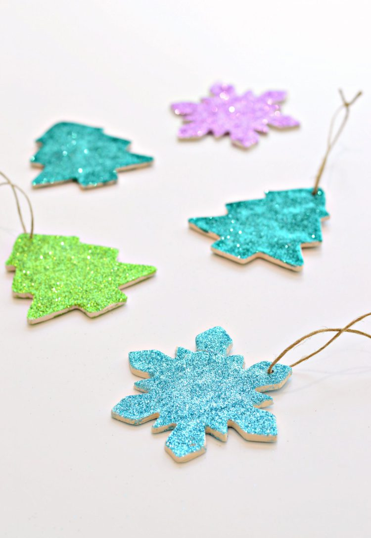 DIY polymer clay glitter ornaments (via https:)