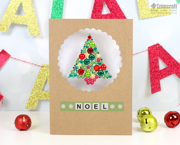 DIY gem Christmas tree card (via www.trimcraft.co.uk)