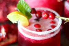 DIY cranberry pomegranate margarita