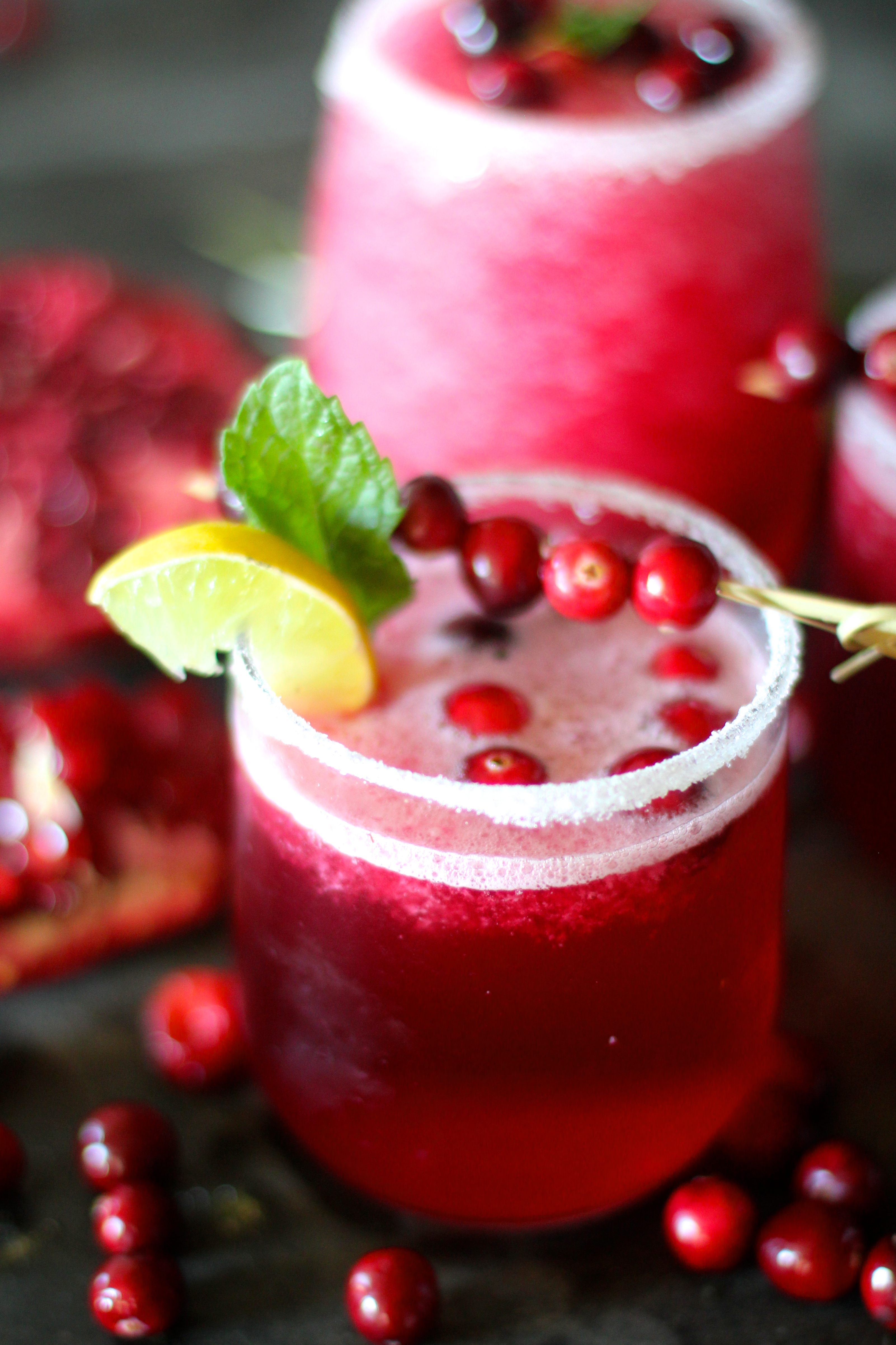 DIY cranberry pomegranate margarita