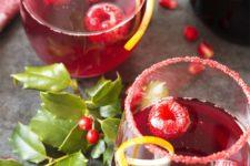DIY pomegranate prosecco cocktail