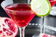 DIY skinny pomegranate martini