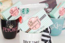 DIY sharpie mug engagement gift