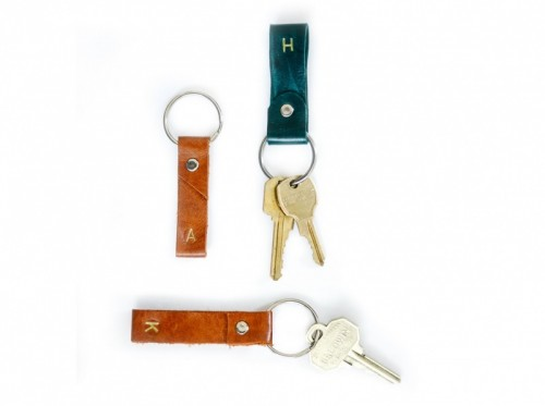 DIY leater key ring with a universal design (via www.shelterness.com)