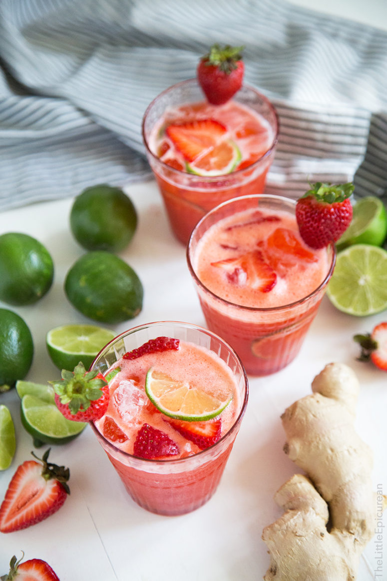 DIY Strawberry Ginger Limeade (via Www.thelittleepicurean.com)