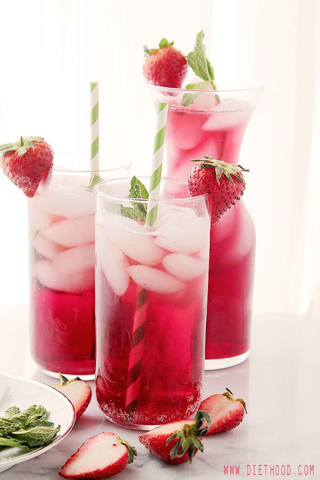 DIY hibiscus iced tea (via diethood.com)
