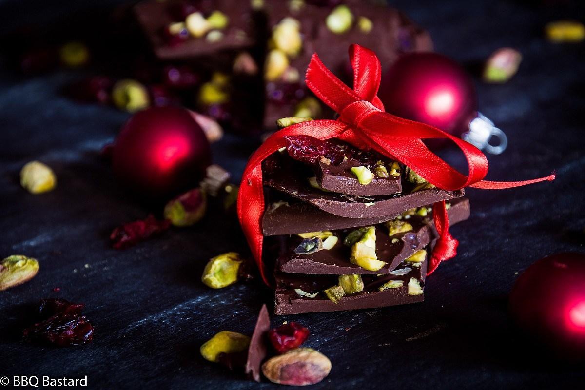 DIY smoked chocolate Christmas bark