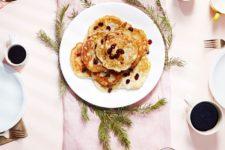 DIY vegan banana eggnog pancake