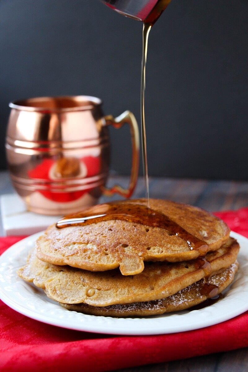 DIY gingerbread pancakes