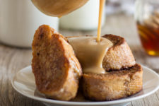 DIY gingerbread French toast with cinnamon honey sauce