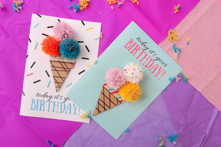 13 DIY Birthday Cards That Are Too Cute - Shelterness