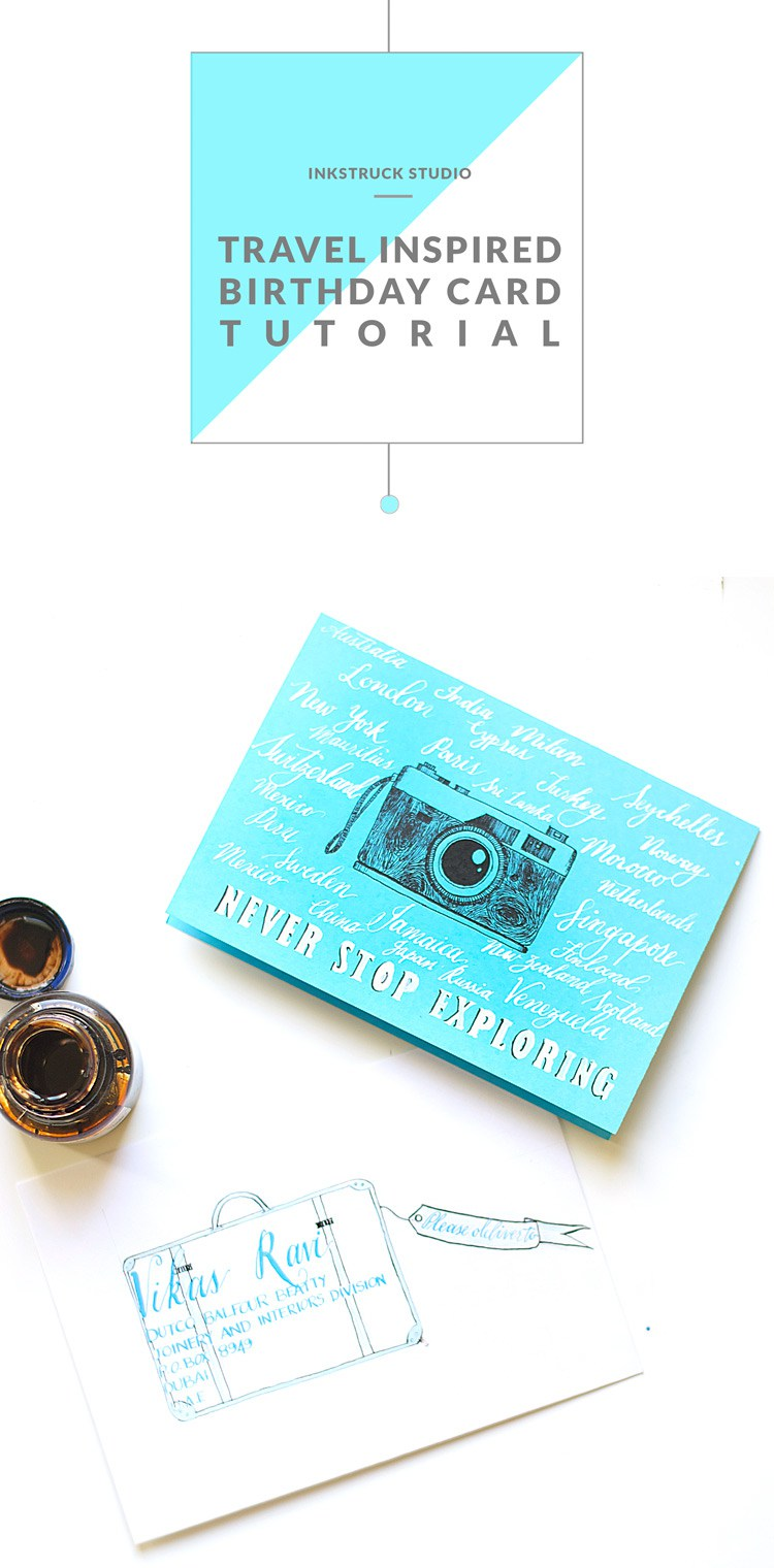 DIY travel birthday card (via www.inkstruck.com)