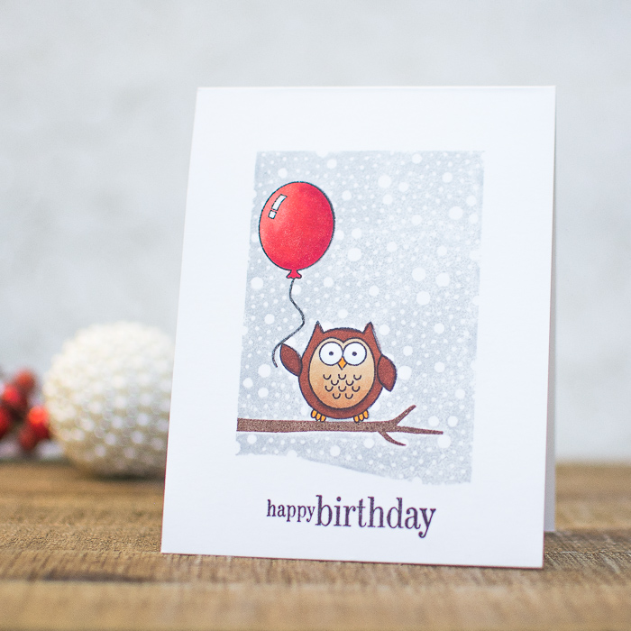 DIY Winter Inspired Owl Birthday Card Via