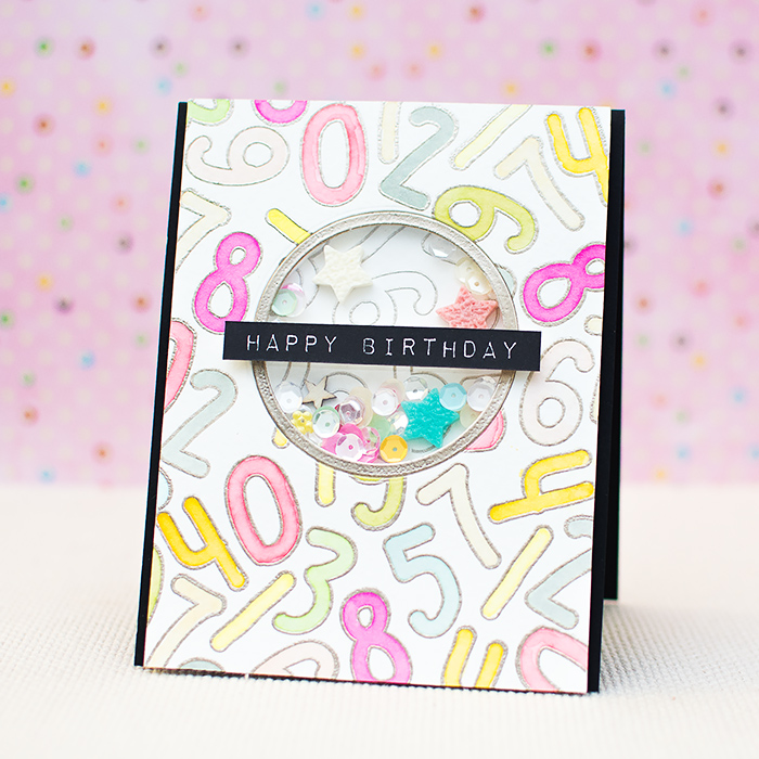 DIY birthday shaker card (via https:)