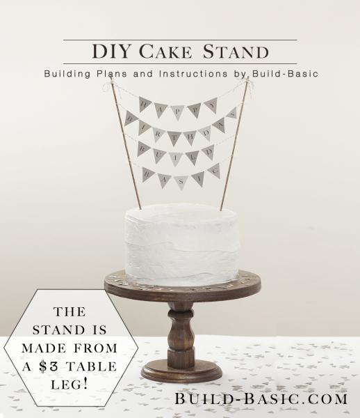 simple and elegant DIY cake stand (via build-basic.com)