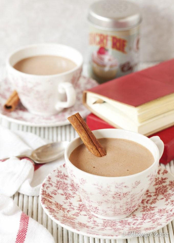 DIY cinnamon hot chocolate (via www.littlesugarsnaps.com)