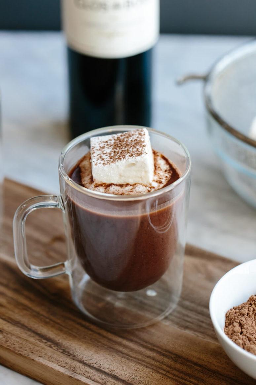 DIY red wine hot chocolate (via https:)