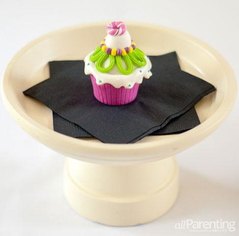DIY terra cotta pot cupcake stand