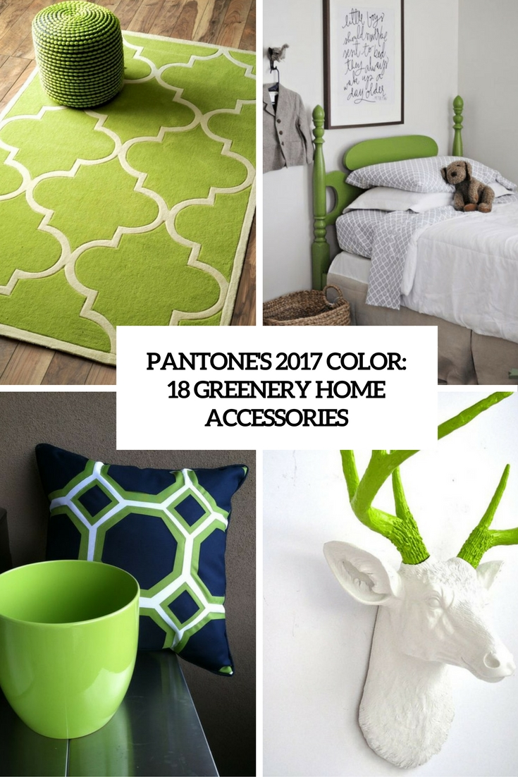 Pantone's 2017 Color: 18 Great Greenery Home Accessories