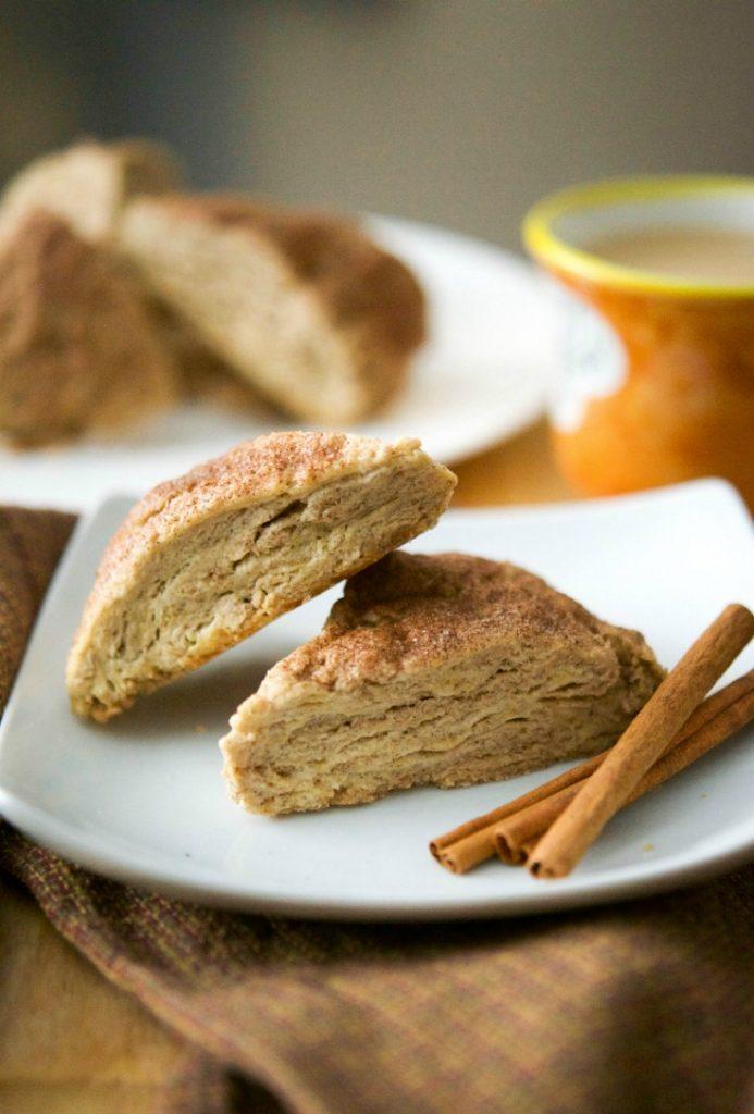 DIY cinnamon scones (via www.carriesexperimentalkitchen.com)
