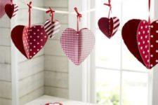 02 3D paper heart garland