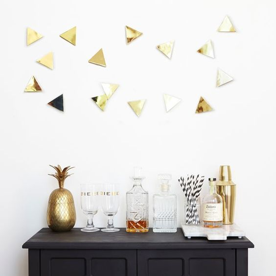 Confetti Triangle Wall Art For A Home Bar Looks Amazing