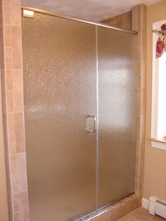 opaque rain glass shower doors for some privacy