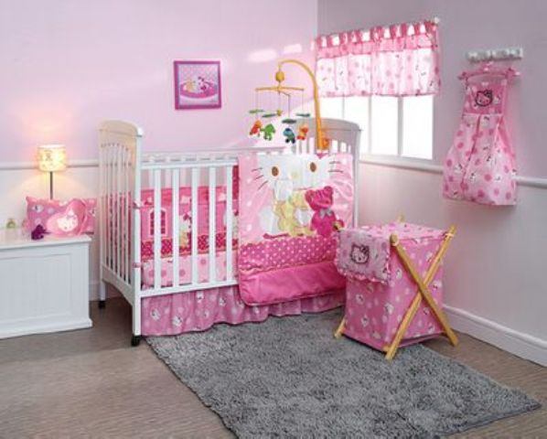 pink Hello Kitty girl's nursery