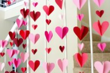 04 3D paper hearts in red and pink will be a great decoration for any Valentine's party
