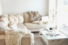 04 comfy white and neutral living room with lighht brown floor