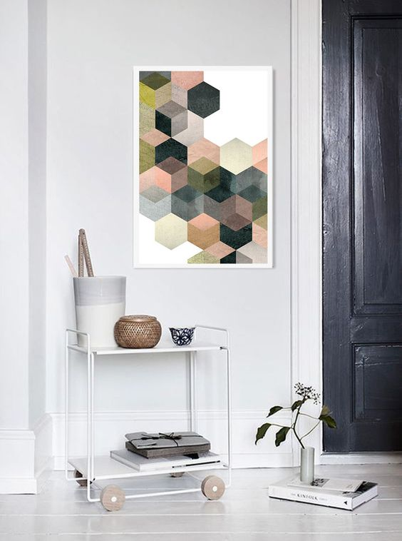 Hexagon Wall Art That You Can Make Yourself