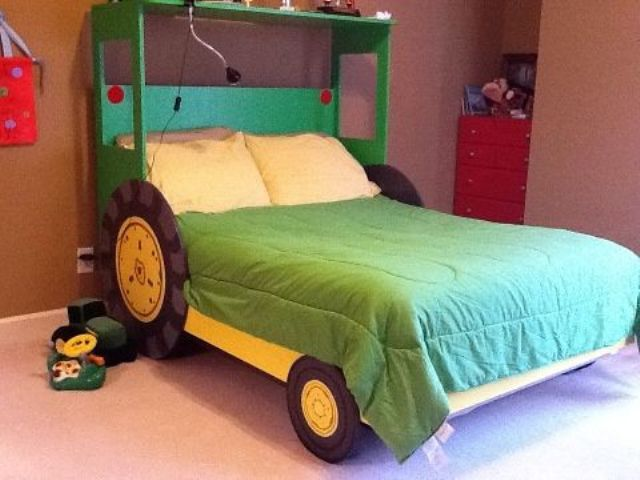 a tractor bed is another popular option for boys' rooms