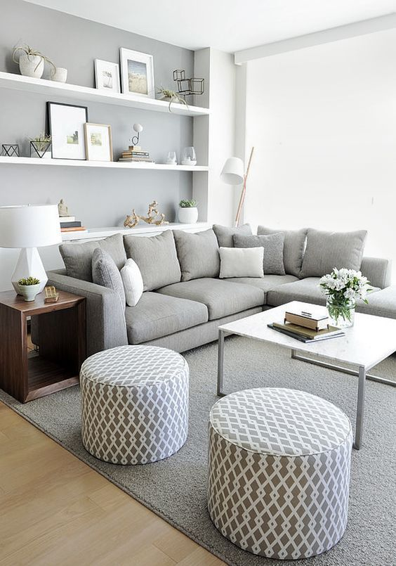 Light Grey Is Another Awesome Shade To Rock In A Small Space