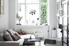 07 Scandinavian-inspired living room in light grey and white