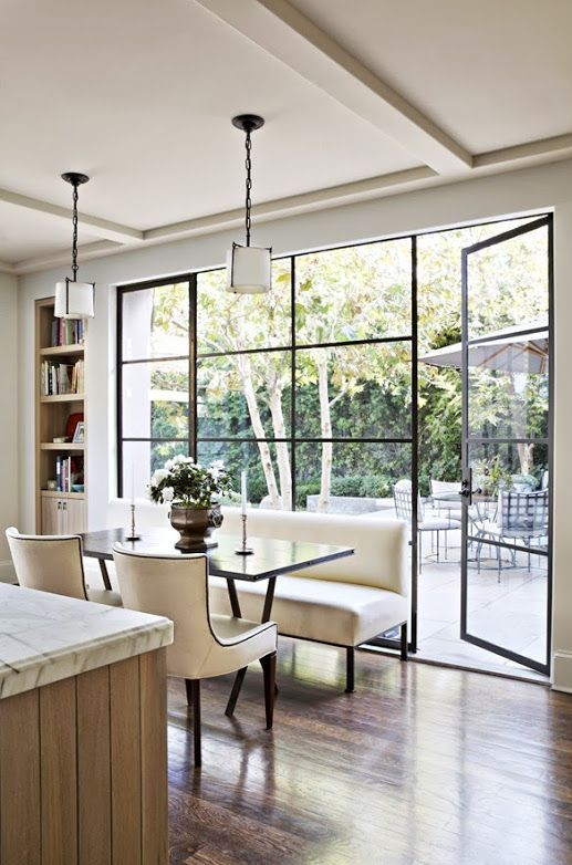 floor to ceiling windows with thin framing make your indoors merge with outdoors