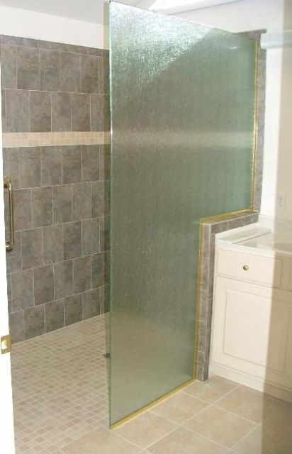 frameless rain glass shower panel to create privacy when needed