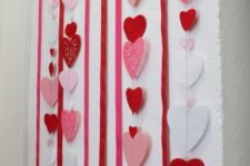 08 colorful heart garlands as a backdrop for a photo booth or else