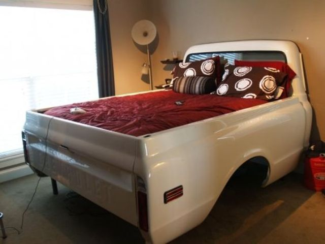 1970 Chevy truck bed is another great vintage idea