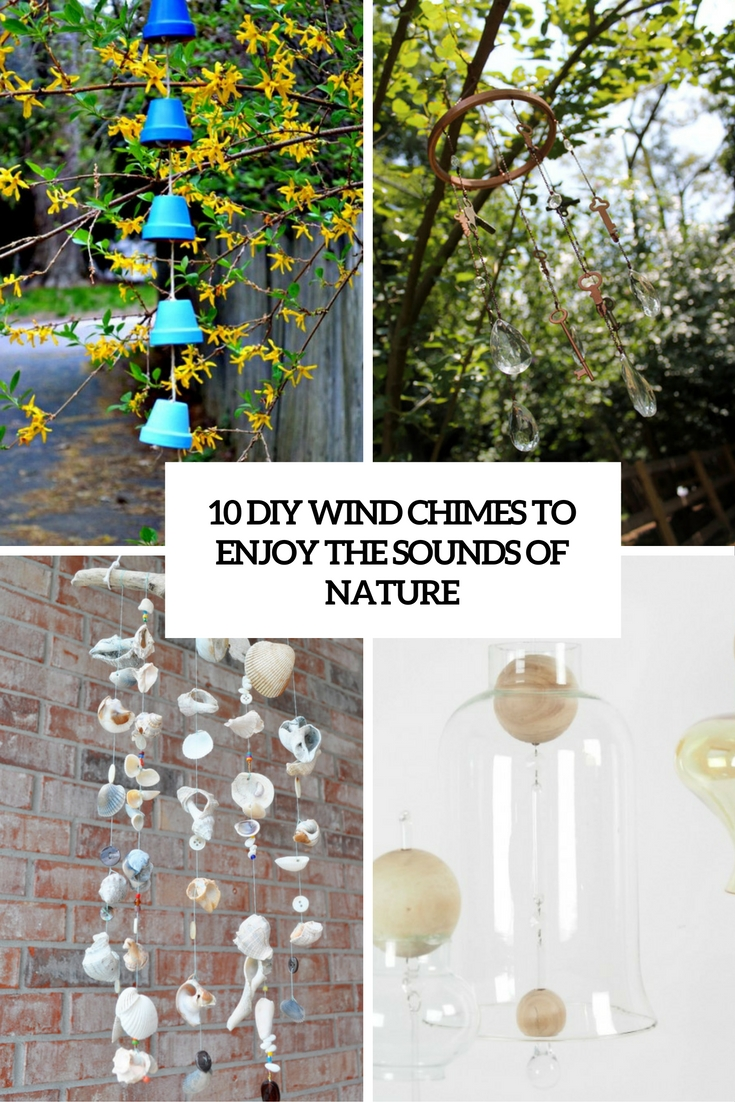 diy wind chimes to enjoy the sounds of nature cover
