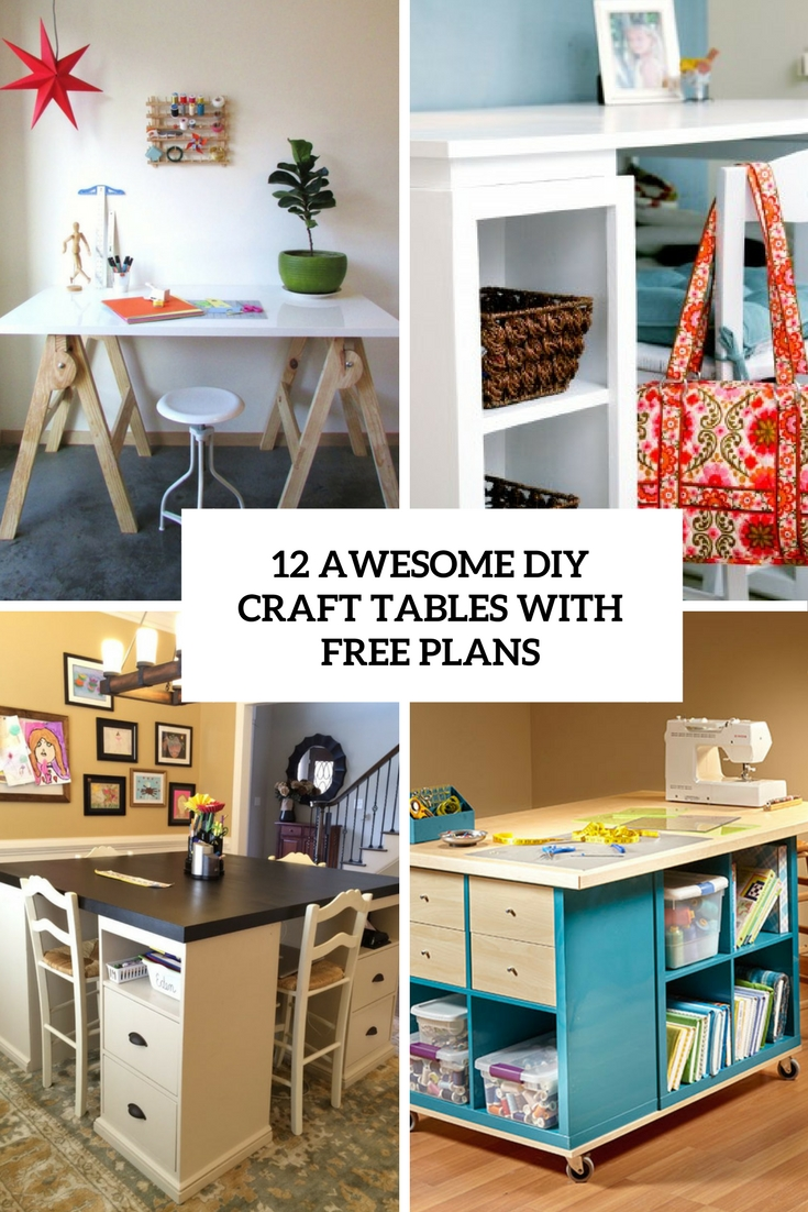 awesome diy craft tables with free plans cover