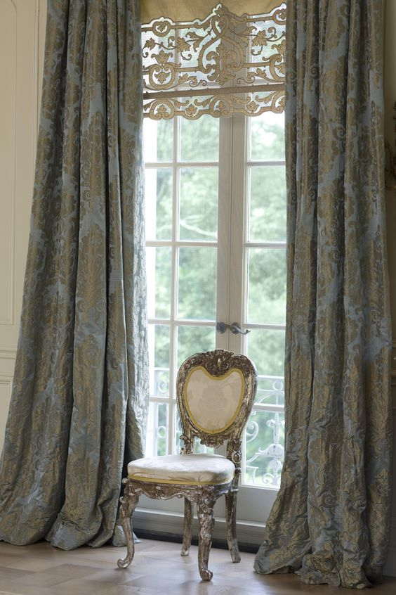 heavy glamorous draperies for a refined interior