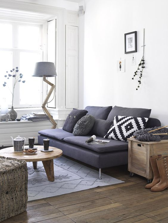 small sofa and light-weight furniture make this space awesome
