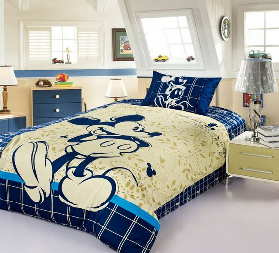 beige and blue boy s bedroom and Mickey bedroom. 27 Mickey Mouse Kids  Room D cor Ideas You ll Love   Shelterness